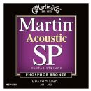 Martin SP 80/20 Bronze Custom Light MSP3050 Acoustic Guitar Strings 011- 052